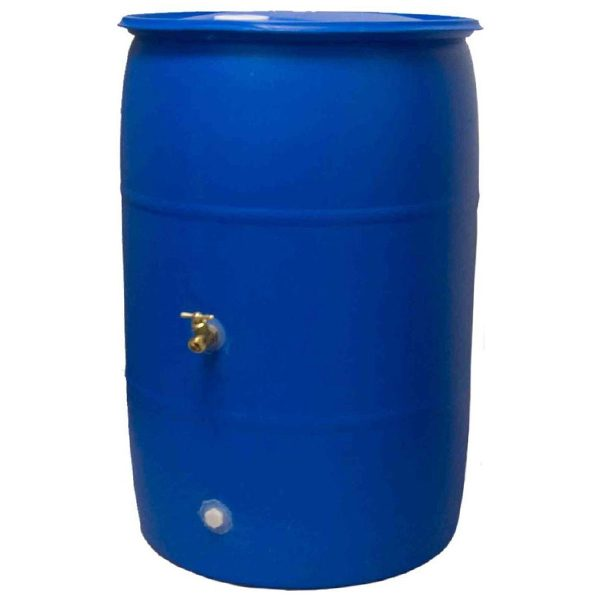 Big Blue 55 Gallon Rain Barrel