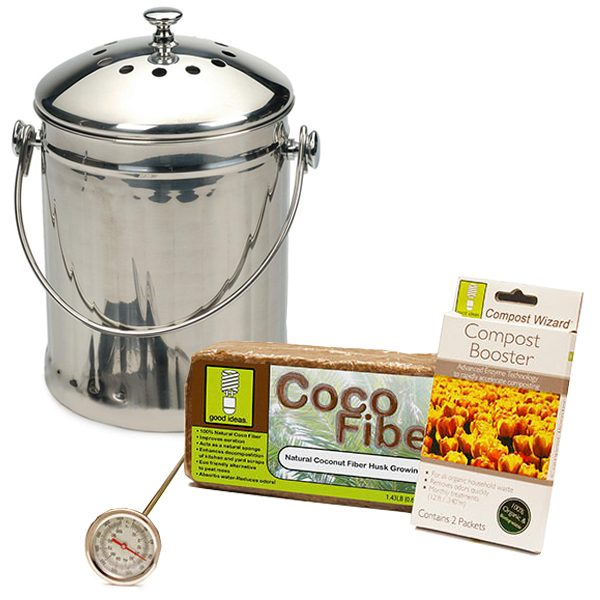 Compost Wizard Essentials Kit Stainless