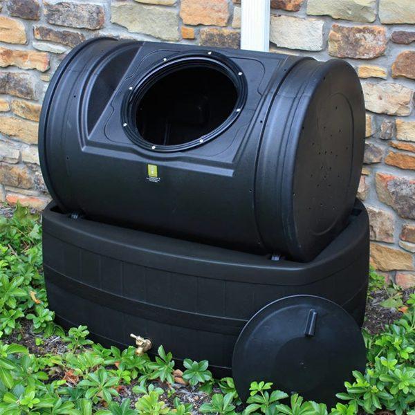 Compost Wizard Hybrid Composter & Rain Barrel Black