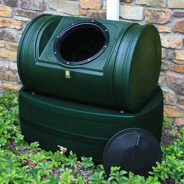 Compost Wizard Hybrid Composter & Rain Barrel Green