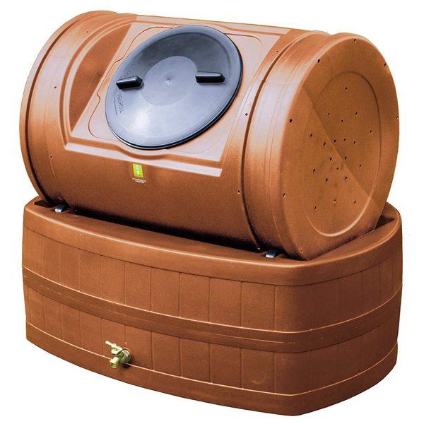 Compost Wizard Hybrid Composter & Rain Barrel Kit Terra Cotta