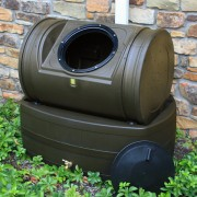Compost Wizard Hybrid Composter & Rain Barrel oak