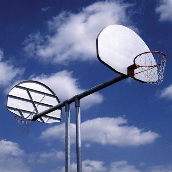 Double Basketball Backstop
