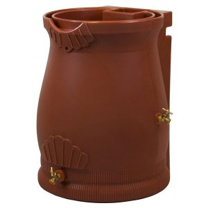 Rain Wizard 50 Gallon Urn Rain Barrel Terra Cotta