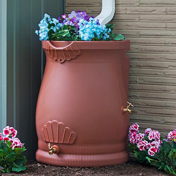 Rain Wizard 50 Gallon Urn Rain Barrel
