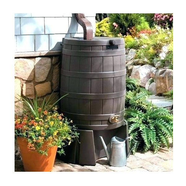 Rain Wizard 50 Rain Barrel Stand Display