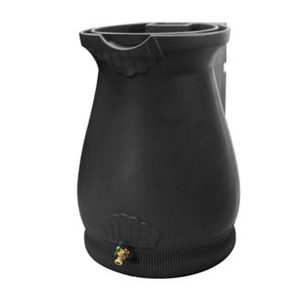Rain Wizard 65 Gallon Urn Rain Barrel Black
