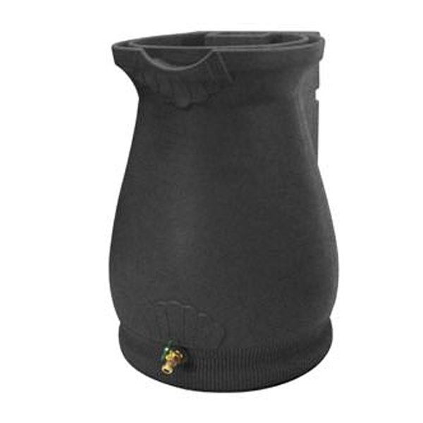 Rain Wizard 65 Gallon Urn Rain Barrel Dark Granite