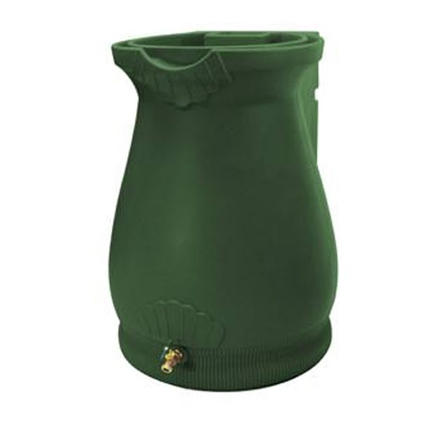 Rain Wizard 65 Gallon Urn Rain Barrel Green