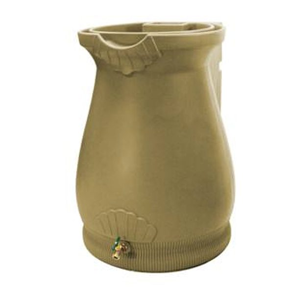 Rain Wizard 65 Gallon Urn Rain Barrel Khaki