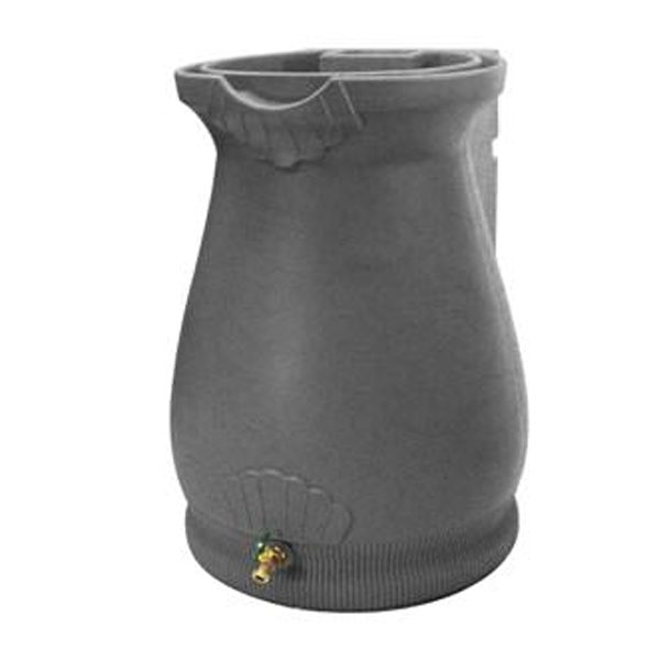 Rain Wizard 65 Gallon Urn Rain Barrel Light Granite