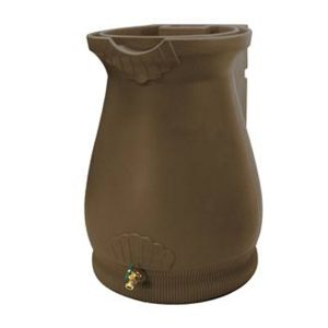 Rain Wizard 65 Gallon Urn Rain Barrel Oak