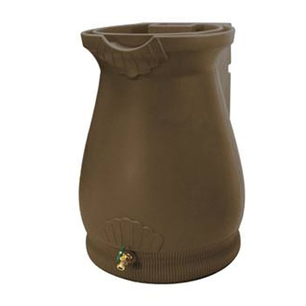 Rain Wizard 65 Gallon Urn Rain Barrel Oak