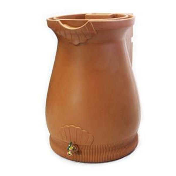Rain Wizard 65 Gallon Urn Rain Barrel Terra Cotta