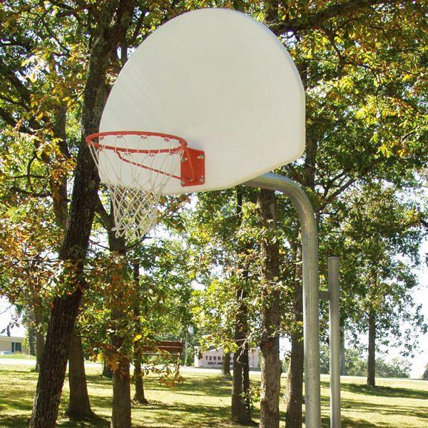 Reinforced Bent Post Basketball Backstop