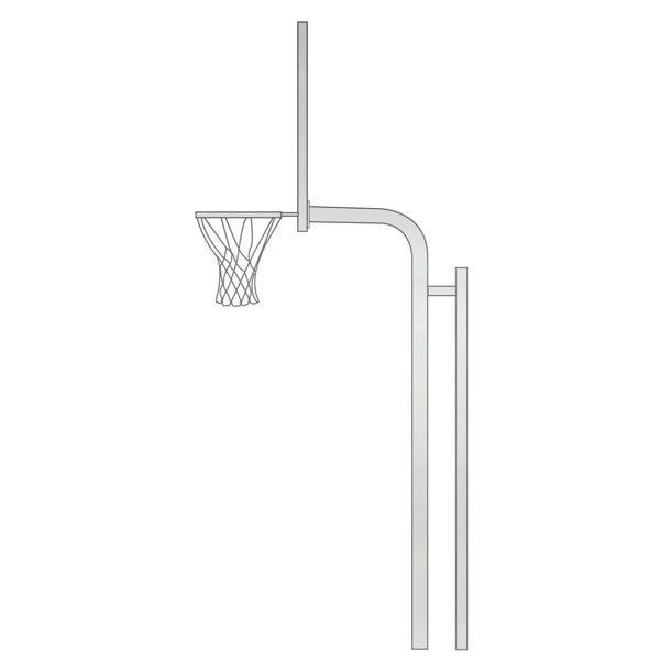 Reinforced Bent Post Basketball Backstop Diagram