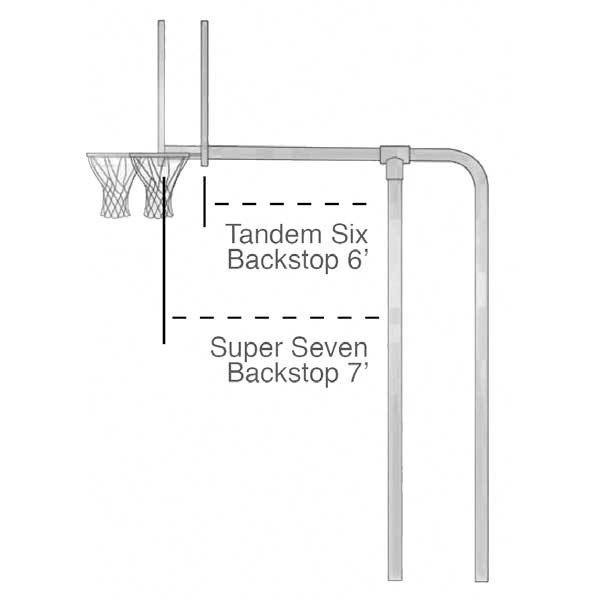 Tandem Basketball Backstop diagram