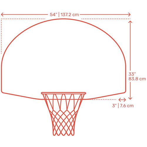 Wall-Mounted Basketball Diagram