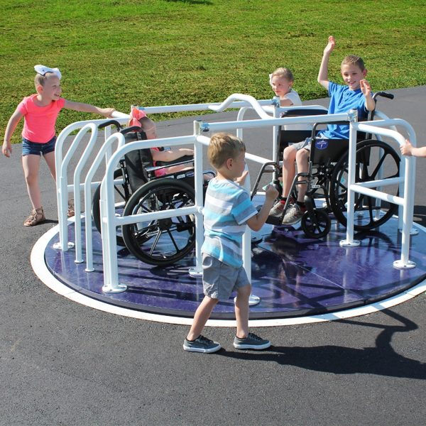 Wheelchair Accessible Merry Go Round Spinning