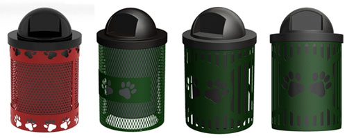 dog trash receptacles