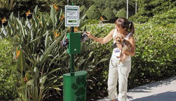 dog waste stations nav