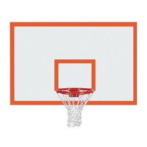 Rectangular Steel Backboard With Border & Target