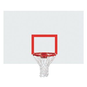 Rectangular Steel Backboard With Target