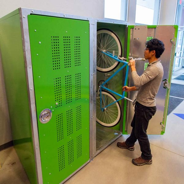 commercial vertical bike storage locker