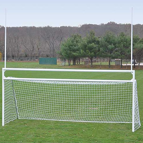 Deluxe Official Football/Soccer Goals Set With Standard Backstays