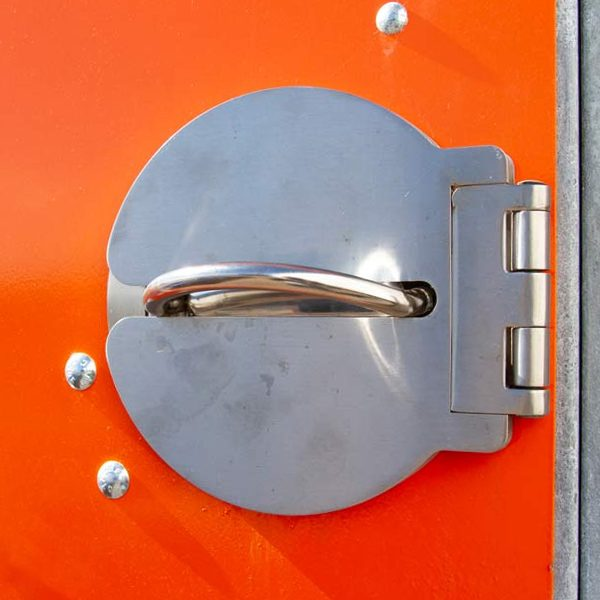 dero single bike locker padlock
