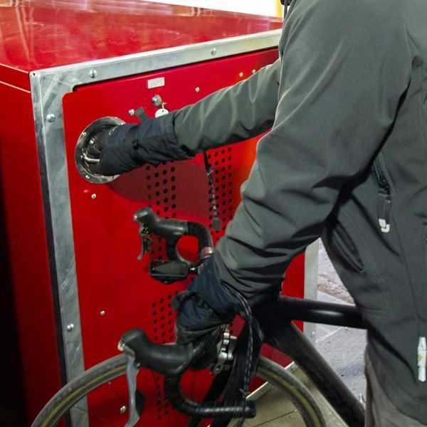 dero single bike locker storage