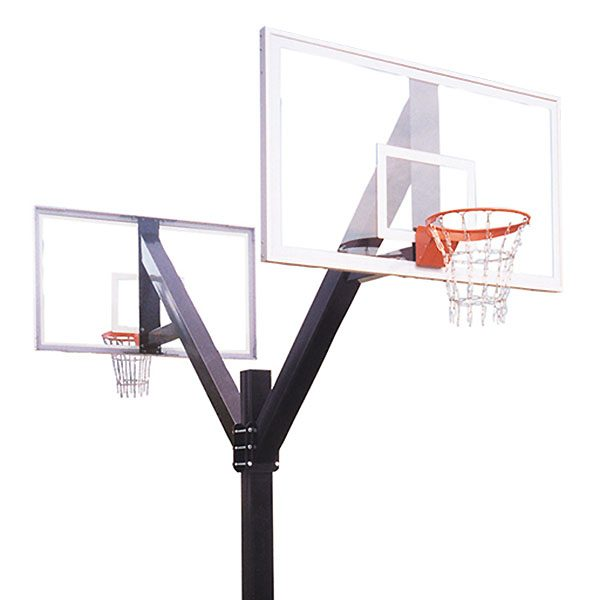 Playground Fixed Height Basketball System - Double Acrylic Backboard