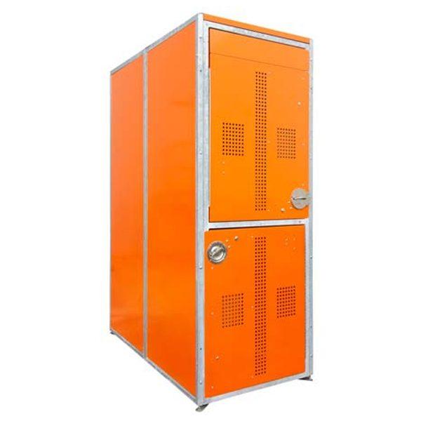 two-tier bike locker