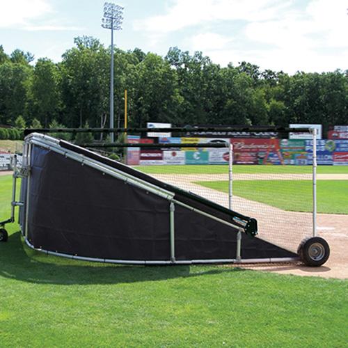 batting cage vinyl skirt black