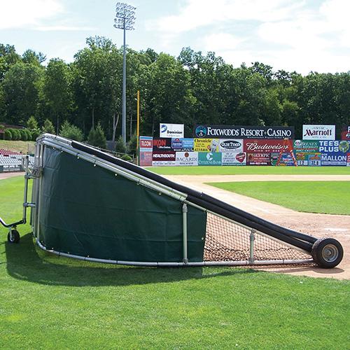 batting cage vinyl skirt green
