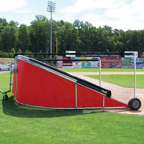 batting cage vinyl skirt red