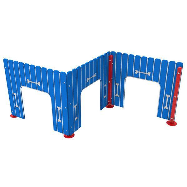 Doggie Fence Run Panel Set Playful Colors