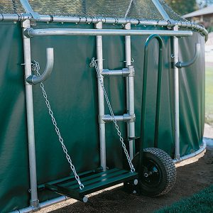 grand slam portable batting cage wheel