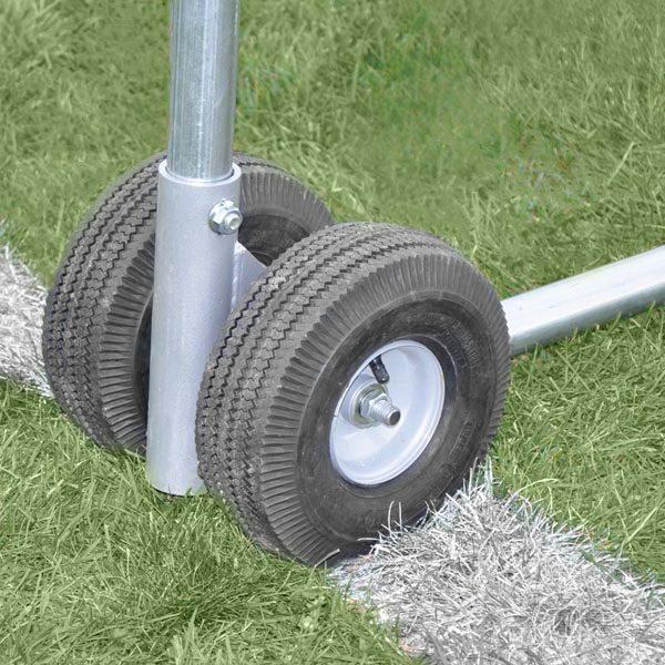 Portable Practice Football Goal Wheels
