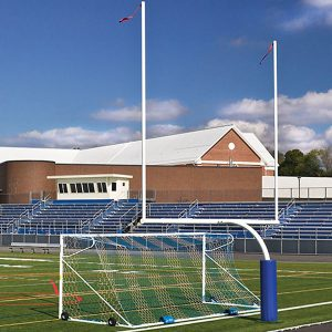 Steel Football Goal Post White Color