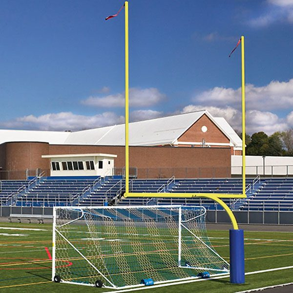 Steel Football Goal Post Yellow Color