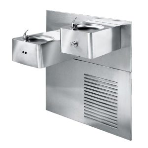 Dual Level Stainless Steel Refrigerated Drinking Fountain