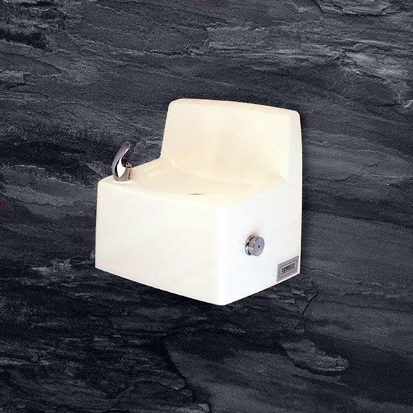 White Satin Stone Drinking Fountain