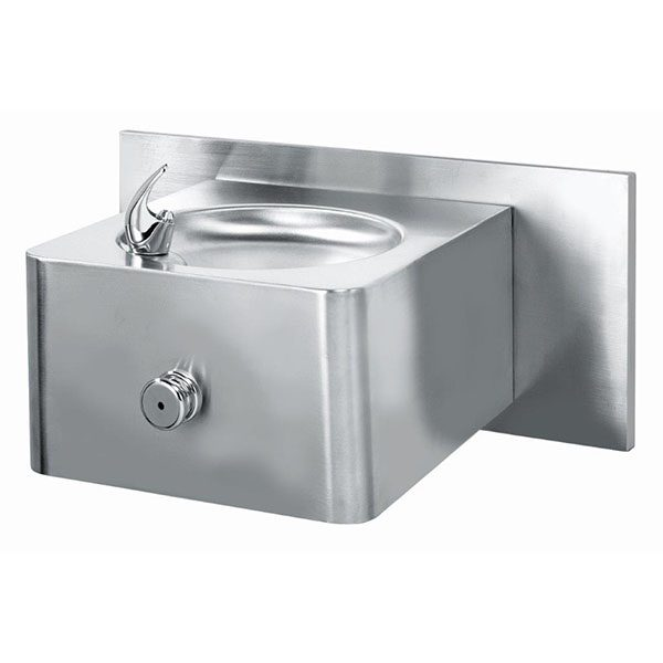 7x12-stainless-sStainless Steel Wall Mounted Drinking Fountainsteel-wall-mounted-drinking-fountain-push-button-operated-with-back-plate