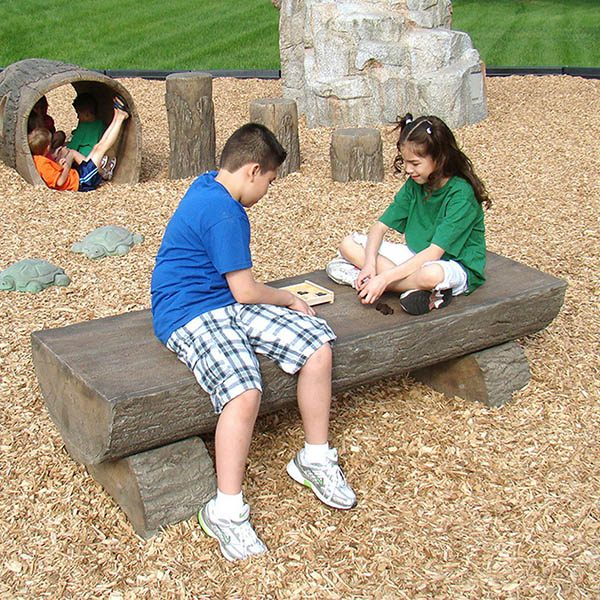 Playground Log Bench