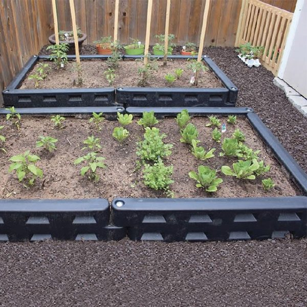 "12"" Plastic Border For Bed Gardening"