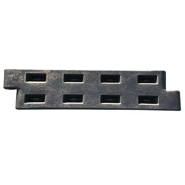 "12"" Plastic Playground Border - Black"