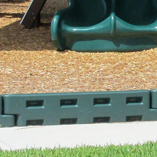 "12"" Plastic Playground Border - Green"