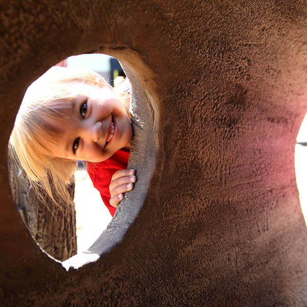 Playground Log Tunnel