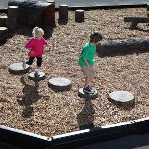 Playground Stepping Tree Slices Set